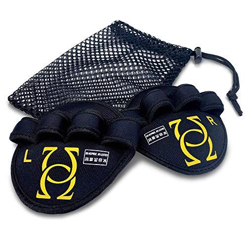 Absolute - Us® Griffpolster - Grip Pads aus echtem Leder für Fitness, Krafttraining & Bodybuilding - Griffpads für den absoluten Schutz in deinem Workout - Fitness Pads inkl. Tragetasche