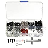 SUCAN 270 stücke Schrauben Box Inbusschlüssel Repair Tool Kit für 1/10 HSP RC Auto DIY