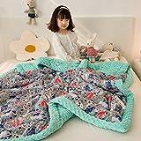 LLDW Gewichtsdecke Für Kinder Kinder Autismus-Angst 100% Baumwolle Mit Sensorischer Weicher Minky Dot-Rückseite Schwere Gewichtsdecke Für Schlaftherapie-Decke,9,1.5 * 2.0cm