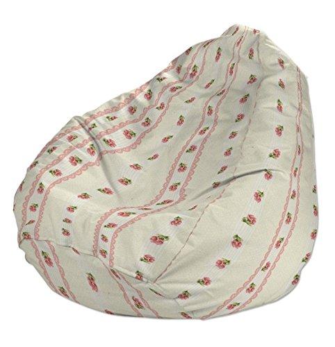 Dekoria Poltrona a sacco Ø80x115 cm rosa scuro-crema