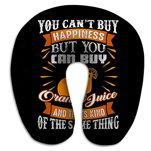 Bequemes U-förmiges Kissen, Reisekissen Memory Foam Neck Food Drink Zitat Guter Druck Sie können Nicht kaufen Glück Orangensaft Art Gleiche Sache