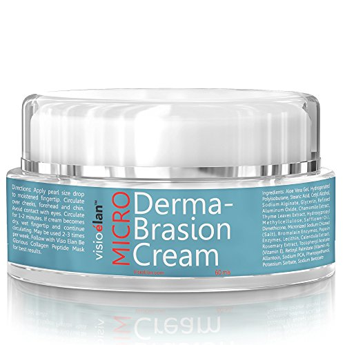 Microdermabrasion Cream Face Scrub - Gentle Beads With Moisturizing Dual Action Base Reduces Pores, Wrinkles & Fine Lines - Men & Women Surfacing Treatment - Visio Elan
