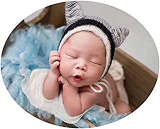 Vemonllas Newborn Infant Baby Photography Props Boys Girls Mohair Hat Photo Shoot Fox Headdress