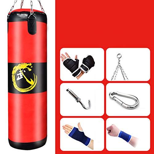 JJYY Hängende Boxsack, Hohl Schwer Boxsack, Hilfsmittel Fitnessübung Für Erwachsene Ausrüstung Taekwondo Martial Arts Kampf Muay Thai Boxing Karate MMA,60CM