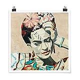 Bilderwelten Poster Frida Kahlo - Collage No.1 Quadrat,