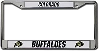 Rico Industries NCAA Colorado Buffaloes Standard Chrome License Plate Frame