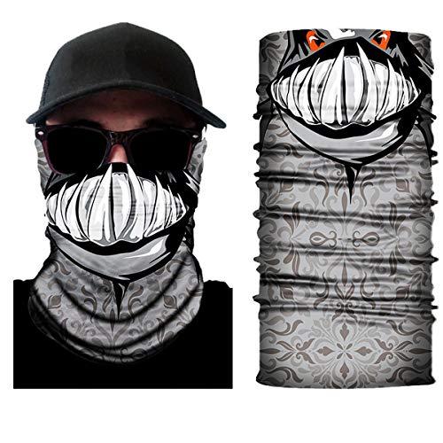 10 Stück Atemschutz Mundschutz, Unisex Damen Männer Lustig 3D Druck Motorrad Face Shield Sturmhaube, für Motorrad Fahrrad Ski Paintball Gamer Karneval Kostüm 3D,8