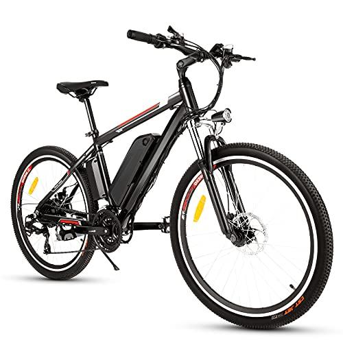 Bicicleta Eléctrica Ebike Mountain Bike, Bicicleta Eléctrica de 26' 250W con Batería de Litio de 36V