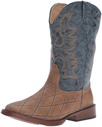 Baby Deer Round Toe Western Boot, Brown, 4