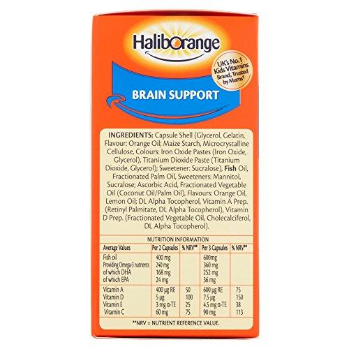 Seven Seas Haliborange Kids Omega-3 with Vitamins 90 Orange Chewable Fruit Burst Capsules
