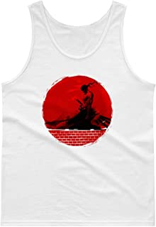 Cool Zoro Roronoa One Piece Anime Blood Moon Sunset Men Women Unisex Tank Top