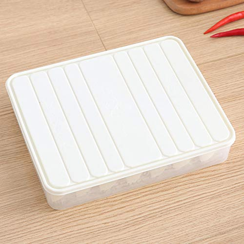 Pangyan Food Preservation Trays Reusable Food Trays Stackable Storage Container with Elastic Lid BPA Free For Refrigerator