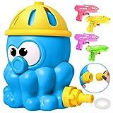 Icnow Giocattolo Spruzzo Splash,Giocattoli d'Acqua all'Aperto Irrigazione attività Estate per Bambini in Famiglia,Attaccato al Tubo da Giardino Sprinkler(con 4pz Pistola ad Acqua)