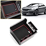 for Volvo XC60 S60 S60L V60 Center Console Organizer Replaces Storage Box Container Armrest Box Secondary Tray Insert Pallet Black