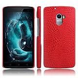 zl one Handy Kasten für Lenovo Vibe X3 Lite PU Leder Krokodil Haut Hülle Back Hülle Cover (Rot)