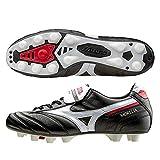 Mizuno Morelia II - Botas de fútbol para hombre, con tacos de tierra compactos, empeine de piel Negro Size: 44 2/3 EU