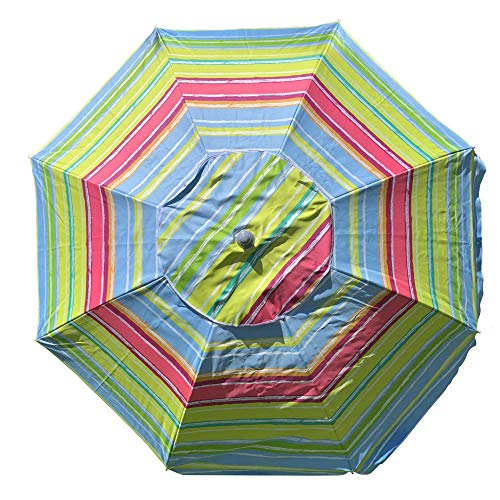 ombrellone da spiaggia facile MLI Ombrellone a 8 Stecche da Giardino o Spiaggia da 220 cm Deluxe Con Sacca Inclusa Fantasia Tipo B 96515DEL