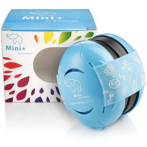 Schallwerk® Mini+ Gehörschutz für Kinder – Kapselgehörschutz Kleinkind – Gehörschutz Kinder, Lärmschutz Kopfhörer Kinder, Ohrenschützer Kinder, Kopfschutz Baby, Baby Kopfband