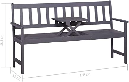 Garden Banana-shaped Bench for 3 People to Seat Made of Teak 151 x 62 x 86 cm