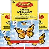 Aeroxon - Adhesifs Anti-Mouches - Appât à Mouches pour fenêtres - 3x4 = 12...