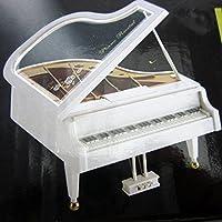 オルゴール ゼンマイ式 回転 ピアノ型 ミュージックボックス 癒しグッズ クリスマスプレゼント ホワイトデー バレンタインデー 誕生日プレゼント 入学祝い 女の子 男の子 知育玩具 インテリア雑貨 (ノーマル)