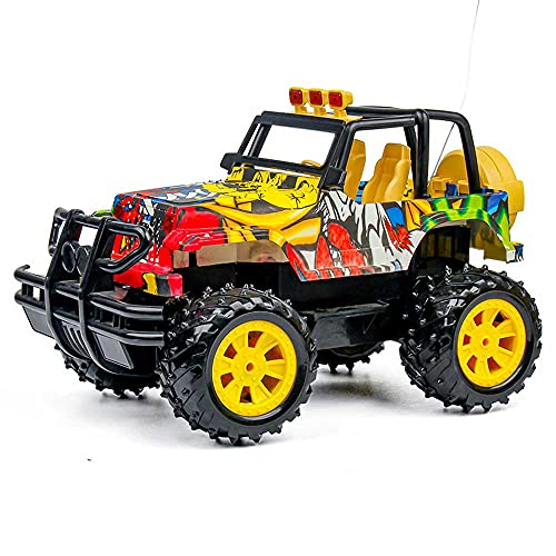 Weaston Camión Monstruo Bigfoot a Escala 1:14, Juguete eléctrico RC de Escalada de Potencia Fuerte 4WD, vehículo RC de Carga para neumáticos de Goma al vacío, Coche de Juguete con orugas