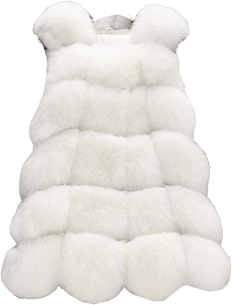 LIYT Women's Wild Soft Sleeveless Faux Fur Vest Outerwear Coat Waistcoat Jacket
