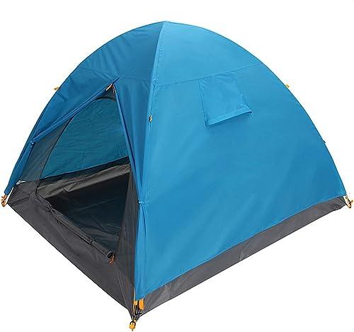 GZW001 Tente Camping en Plein air Voyage sur la Plage 3 Personnes Double Couche Coupe-Vent étanche à la Pluie, 2 Couleurs