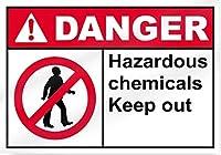 危険有害化学物質の侵入を防止します。金属錫標識通知道路交通危険警告耐久性、防水性、防錆性