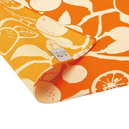 日本の伝統色で染めた「京都メイド」の風呂敷です。 京の両面おもてなし ふろしき 三巾 橙 橙色 だいだいいろ 14-052111 〈簡易梱包