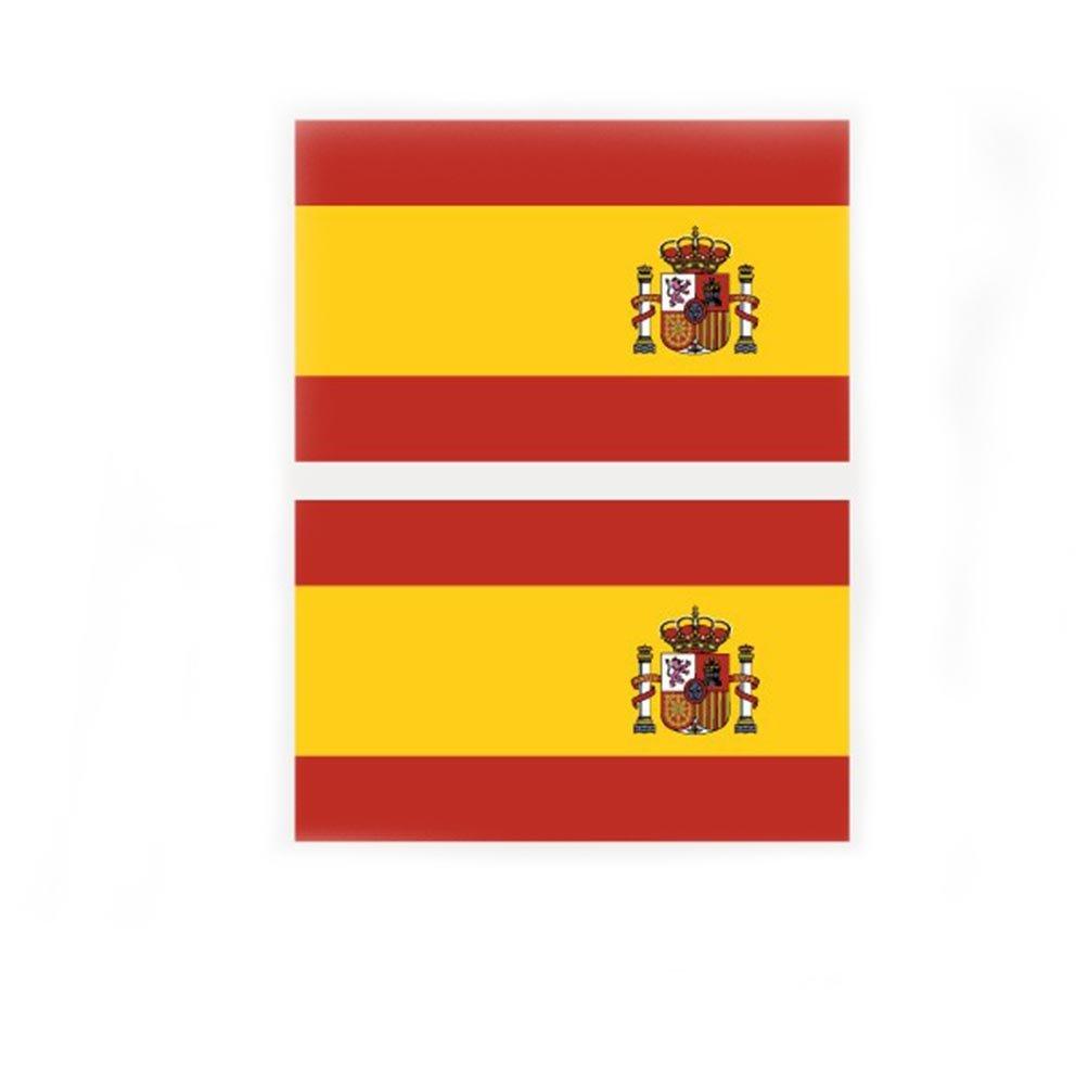 Nikgic Mini Pack De Pegatinas de En La Cara Bandera de España, Español, Copa Mundial de: Amazon.es: Hogar