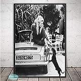 adgkitb canvas Brigitte Bardot Mode Poster Schwarz und