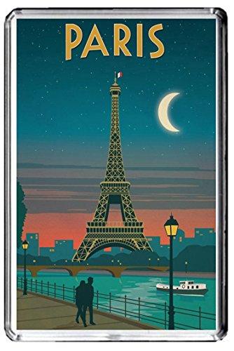 C045 PARIS AIMANT POUR LE FRIGO FRANCE VINTAGE TRAVEL PHOTO REFRIGERATOR MAGNET