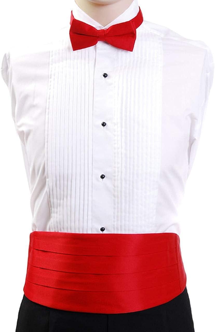 Men's Bow Tie & Matching Cummerbund Set - Bow Ties for Men + Wedding Party Cummerbund and Bow Tie Set