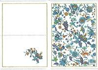 集彩苑 オリジナルクリアファイル おくすり手帳 (A6) サイズ 二つ折り (青い鳥)