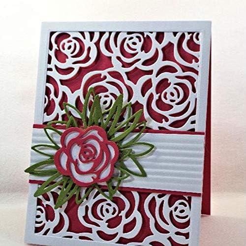 Rose Flower Frame Metal Cutting Dies Stencils Free shipping on posting reviews Nippon regular agency For DIY Scrapbooki