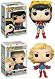 Funko POP! DC Bombshells: Wonder Woman + Supergirl – Stylized Vinyl Figure Set NEW...