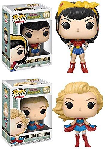 Funko POP! DC Bombshells: Wonder Woman + Supergirl
