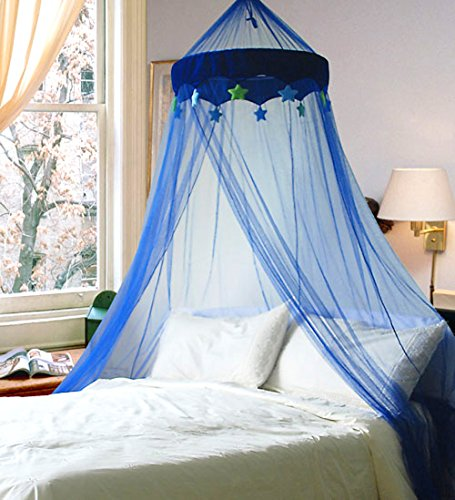 Blue In the Night Star Bed Canopy (Mosquito Net) by Leisure Bargains