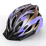 Deyiis Casco de bicicleta, Montaña Casco de Bicicleta para Adultos Ajustable con Visera Desmontable para Bicicleta MTB City Specialized Casco de Bicicleta Todoterreno para Hombres y Mujeres Lila
