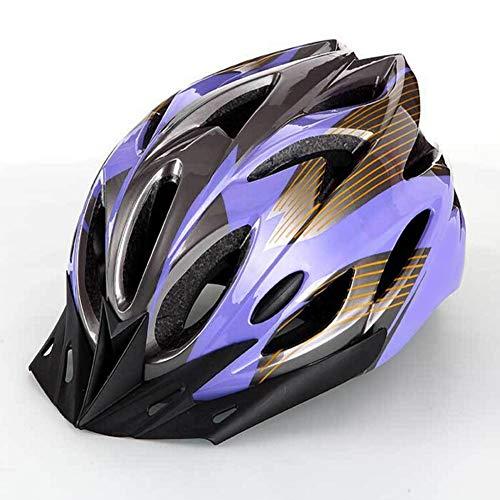 Deyiis Casque de vélo de ville, VTT, pour adulte homme et femme, réglable, avec visière amovible, lilas