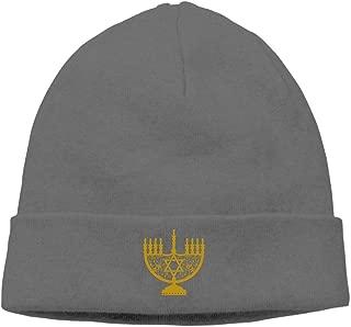 nordic runes Hanukkah Candle Beanie Hat Winter Warm Knit Skull Cap for Mens/Womens