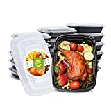 Switory 10pc 950ml Meal Prep Containers 1 Compartment with Lids BPA Free Plastic Food Storage Containers Bento...