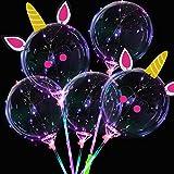 Globos LED, Helio para LED Globos, Globos Luminosos Fiestas para Bodas, Celebraciones, Navidad, Valentín Cumpleaños Fiesta