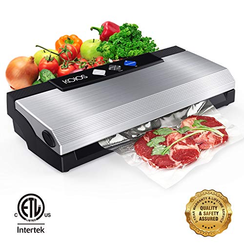KOIOS Vacuum Sealer Machine, 80Kpa Automatic Food Sealer with Cutter for Food Savers, 10 Sealing...