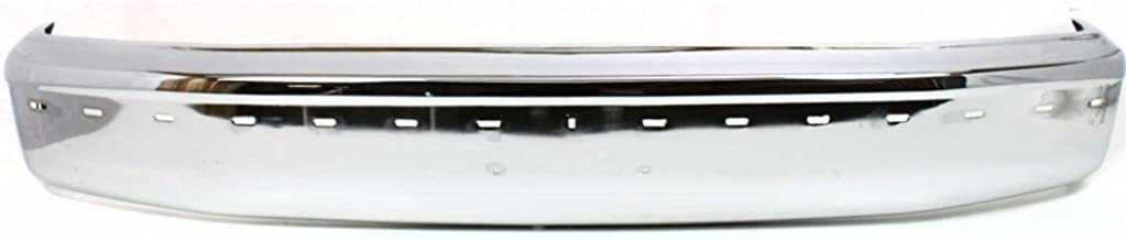 Bumper for Ford Bronco 92-96/F-Series 92-97 Front Bumper Chrome w/Pad Holes