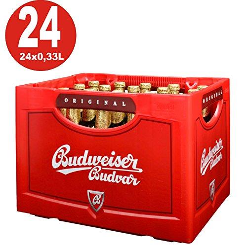 24 x Budweiser Budvar 0,33 Originalkiste 5,0% Vol MEHRWEG