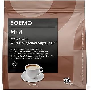 Marca Amazon - Solimo Senseo Pads Mild, 90 pads (5 Paquetes x 18)