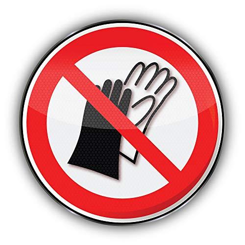 Niet gebruiken Handschoenen Verbod Teken - Zelfklevende Sticker Auto Venster Bumper Vinyl Decal