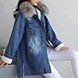 Zoom IMG-1 frauit giacche jeans donna lunghe